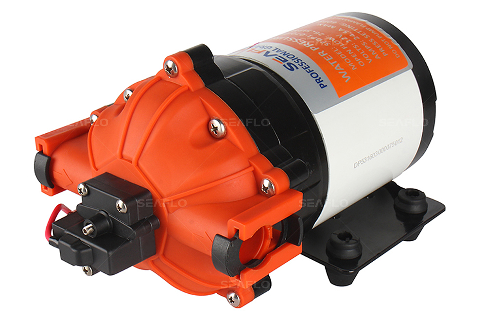 SEAFLO Irrigation Pump 12v Water Pump Diaphragm 7.0 GPM 60PSI Water Pump Garden Fountain Hydroponic