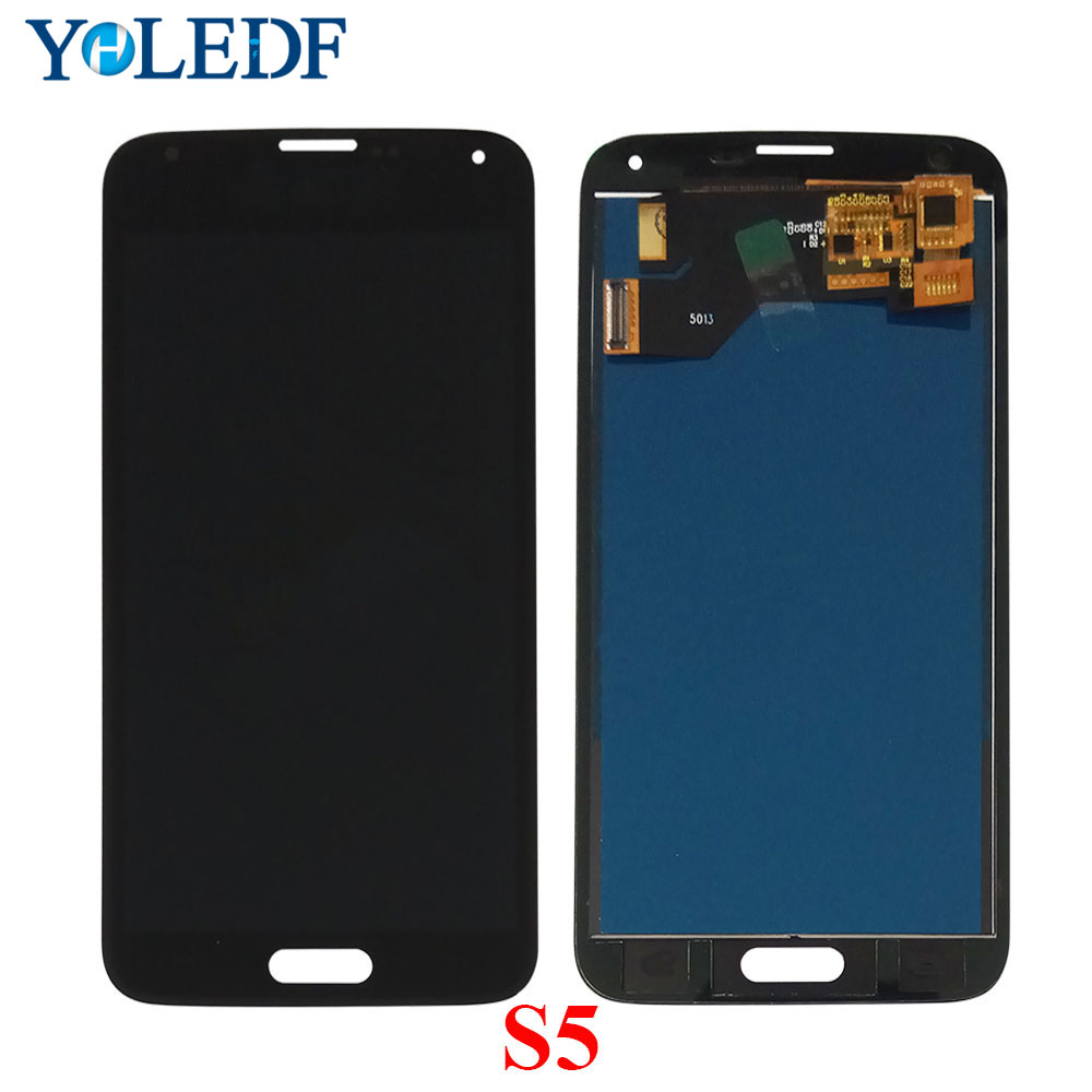 New S5 LCD For Samsung S5 G900F <font><b>Display</b></font> LCD Screen Touch Digitizer Assembly i9600 G900F <font><b>G900H</b></font> G900M G9001 G900R G900P G900T LCDs image