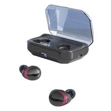 Bluetooth Headphone 5.0 Wireless Earbuds Stereo Handsfree Sports Waterproof Digital Display Running Hanging Headset