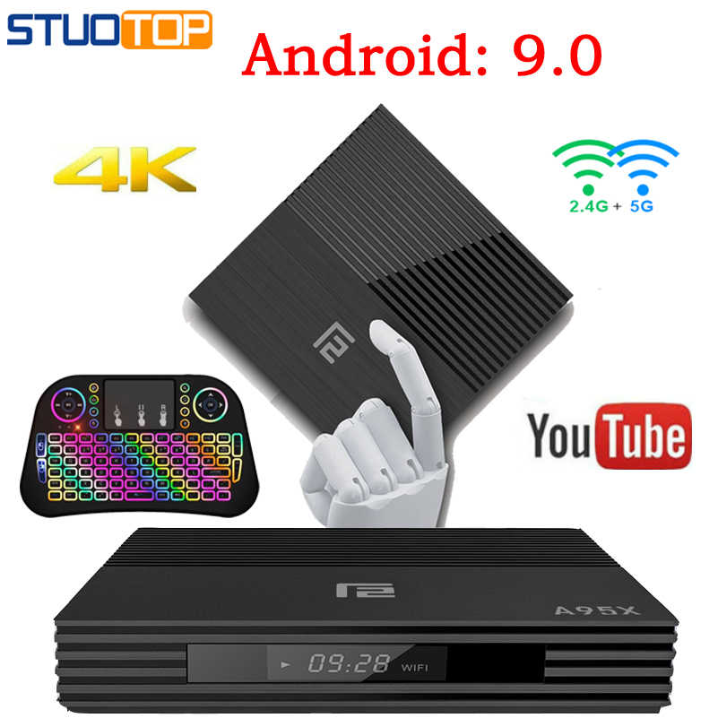 A95x F2 Inteligente Android 9.0 TV Box IPTV Set Top Box 4 Mi ni K S905 x2 2.4G & 5G WIFI 4G 32G 64G Quad-Core Media Player PK X96 H96 HK1
