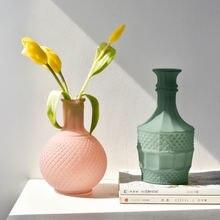 Домашняя матовая рельефная ваза креативное домашнее украшение