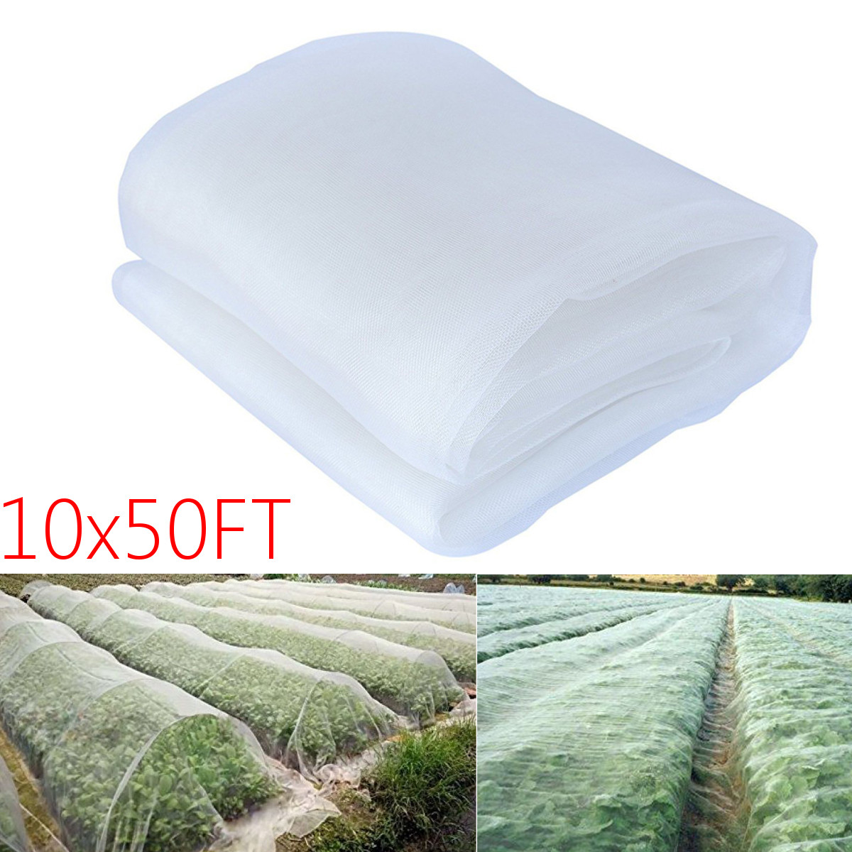 15m Garden Pest Insect Anti bird Net Plant Vegetable Fruit Protection Cover Nylon 40Mesh Breathable Against Insect Pest|Plant Covers| |  - title=