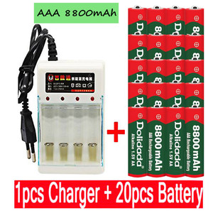 new AAA battery 8800 mah rechargeable battery AAA 1.5 V 8800 mah Rechargeable Alcalinas drummey +1pcs 4-cell battery charger