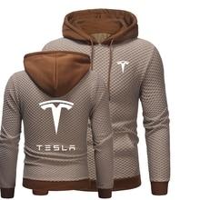 New StyleMen Hoodies Tesla Streetwear Pockets Sweatshirts Male Casual Harajuku Men Clothing Pullover Loose Sweatshirt Men 2021
