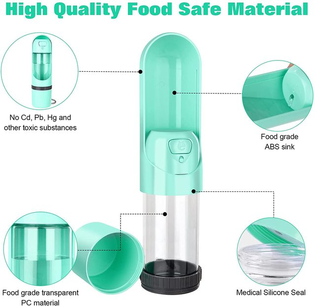 2021 Portable Pet Dog Water Bottle 300ml Drinking Bowl for Small Medium Large Dogs Feeding Water Dispenser Dogs Outdoor Bottles 3