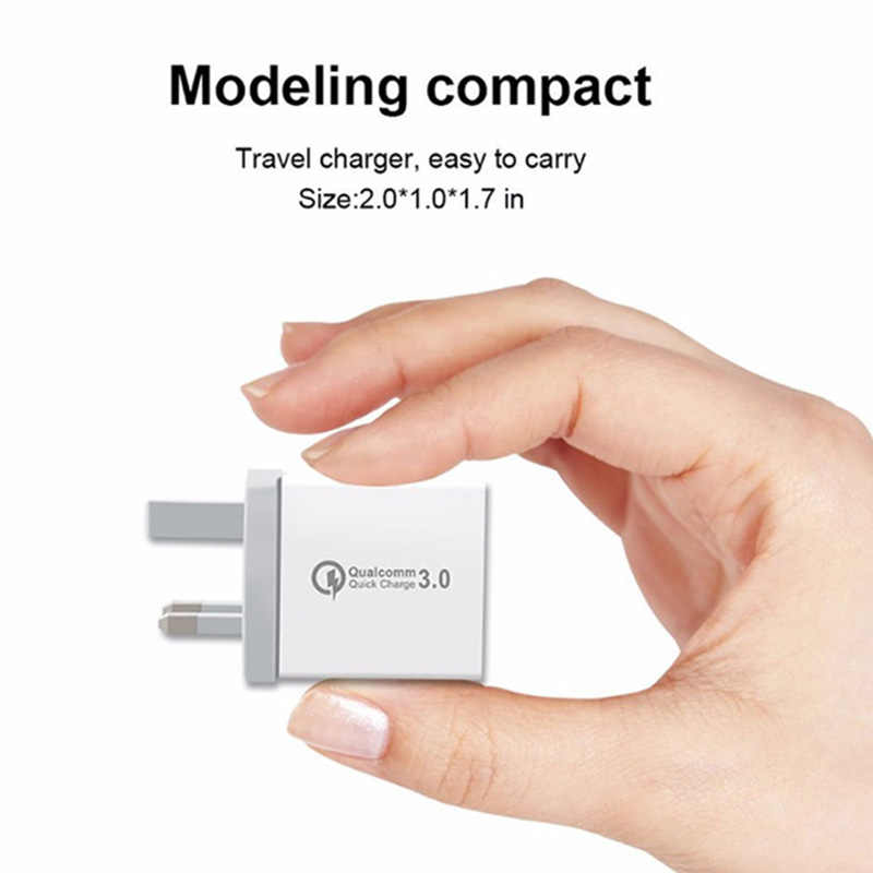 3 منافذ سريعة شاحن QC 3.0 30W USB شاحن آيفون X 8 باد سامسونج S9 هواوي Xiaomi LHB99