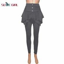 Однотонные облегающие леггинсы sudie girl брюки с тремя пуговицами
