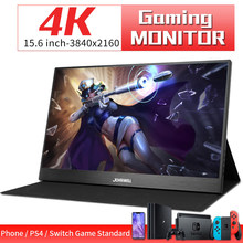 Przenośny monitor 15.6 calowy wyświetlacz 4K 3840X2160 monitor IPS LCD HDMI type-c monitor gamingowy wideo na PS4 przełącznik XBOX TV DVD Box