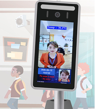 Face Recognition Thermo Camera Body Temperature Detector Access Control Non contact Fever Imager Thermal Camera with Voice Alarm