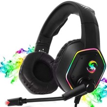K15 Gaming Headphones for PC Laptop Deep Bass Surround Sound 3.5mm Noise Reduction with Microphone LED Headset Headphone Gamer