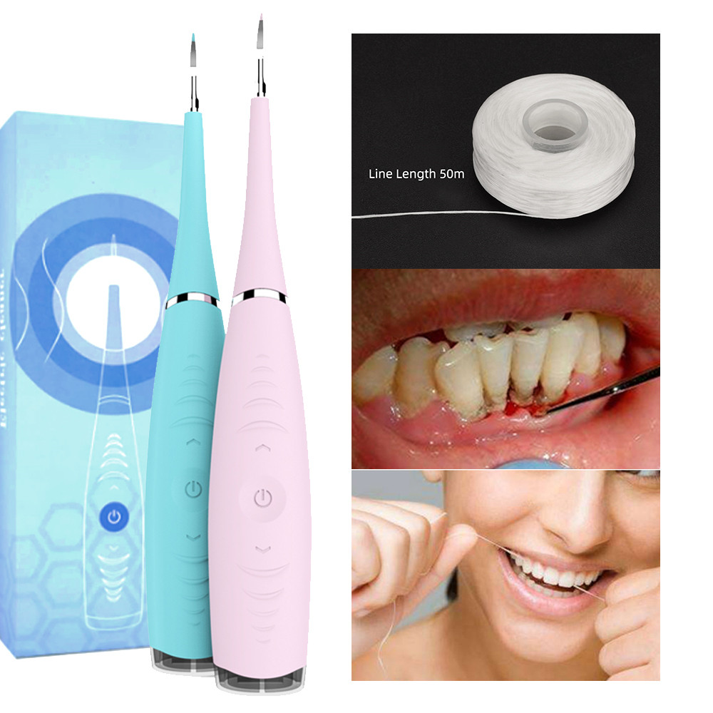 Electric Portable Sonic Dental Scaler Tooth Calculus Remover Tooth Stains Tartar Tool Dentist Teeth Whitening Oral Hygiene(China)