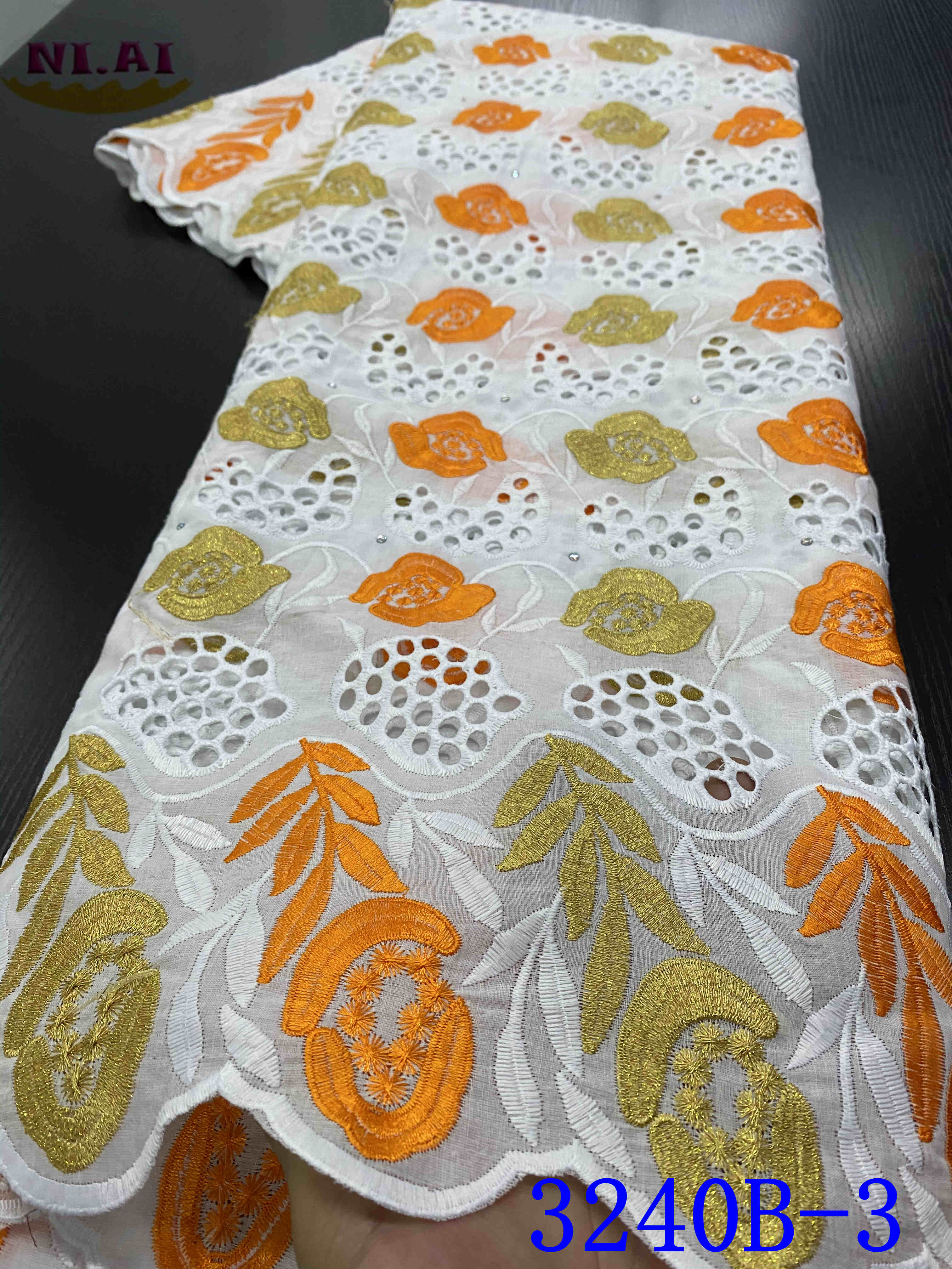 White Voile Lace In Switzerland French Cotton Lace Fabric African Lace Fabric Nigerian Lace Fabrics For Dress YA3240B-3