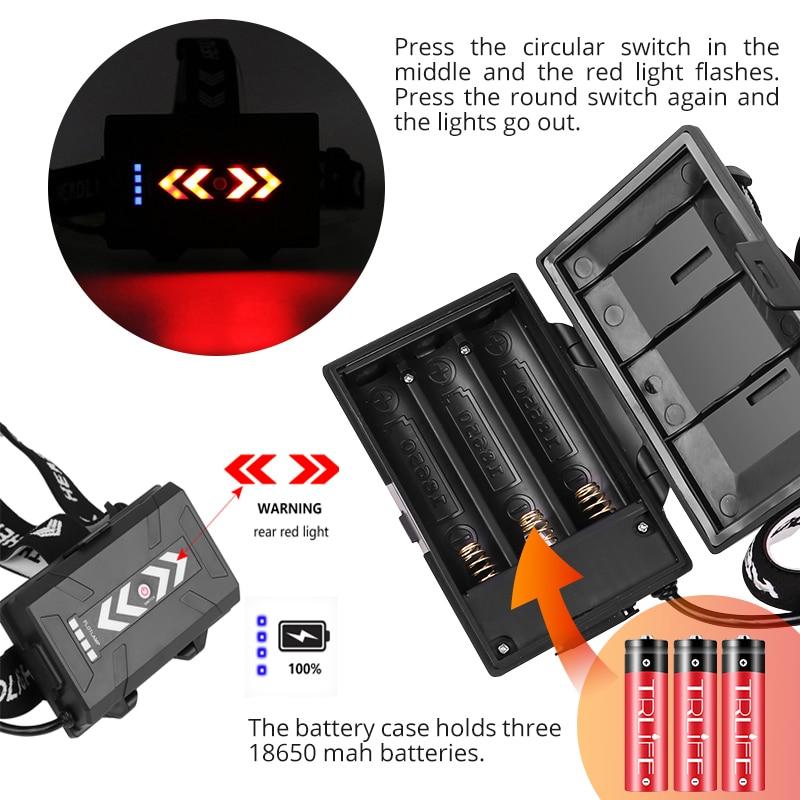 Details about  /2021 LED Headlamp XHP110 Headlight Flashlight Torch Lantern Outdoor Camping Lamp