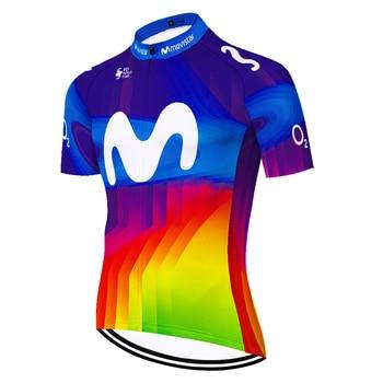 Maillot de ciclismo DEL EQUIPO MOVISTAR para hombre, corte láser, secado rápido,...