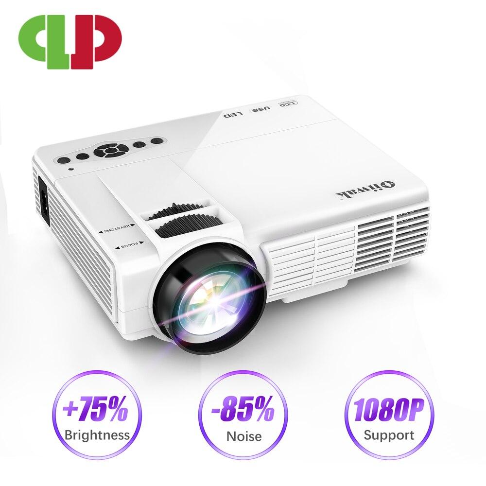 LEISTUNGSSTARKE Q5 LED Projektor 720P Full-HD Mini Projektor 800*600 Wireless Sync Display mit Telefon Wifi proyector 4k Heimkino