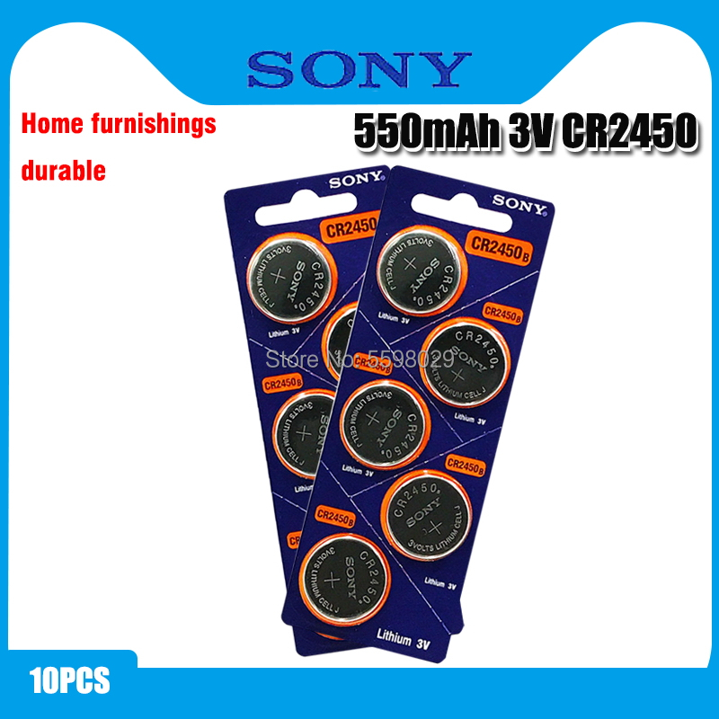 10pcs Original Sony CR2450 Button <font><b>Battery</b></font> 5029LC BR2450 BR2450-1W <font><b>CR2450N</b></font> ECR2450 DL2450 KCR2450 LM2450 For Watch Toy Remote image