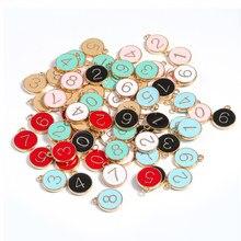 10 sztuk 12*14mm okrągły wisiorek płyty ze stopu Tag emalia Charms ręcznie wykonane wisiorki tworzenia biżuterii Handmade Craft DIY bransoletka hurtownie