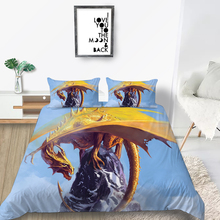 Yellow Dragon Bedding Set King Fashionable Cool Mo
