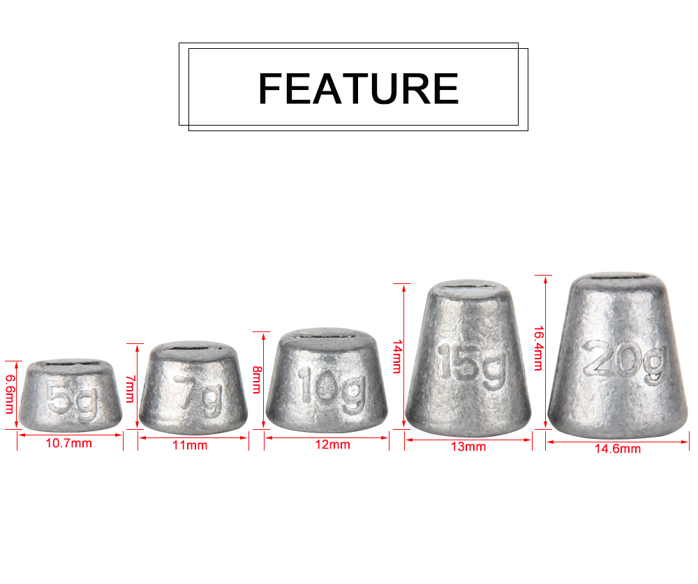 Lead Sinkers Weights  (2)