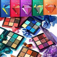 9 Colors Glitter Eyeshadow Pallete Makeup Matte Eye shadow Palette Shimmer and Shine Diamond Eye shadow Powder Pigment Cosmetics