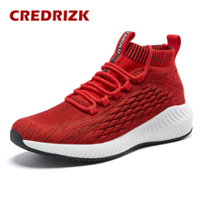 2020 Spring High Top Shoes Sport Jogging Walking Shoes Red Fashion Mesh Sneakers Men Black Running Shoes Breathable Gym Trainers salomon shoes speed cross 4 cs sneakers men cross country shoes black red speedcross 4 jogging shoes strong grip running shoes