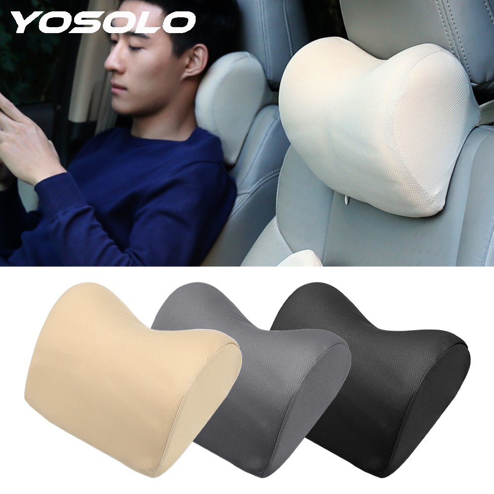 YOSOLO Neck Protection Auto Head Rest Cushion Car Headrest  Head Safety Support Pad For Seat Chair Neck Pillow