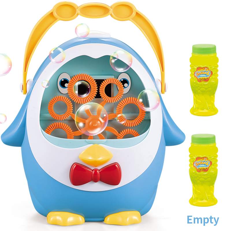 Penguin Fully Automatic Bubble Machine Blower Water Blowing Toys Soap Outdoor Kids Toys Parent-child Interactive Toys For Kids