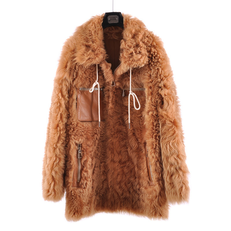 Real Fur Coat Female Winter Natural Sheep Shearing Jacket Women Clothes 2020 Vintage Double Faced Fur Coat Warm Top Hiver 081509