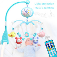 Baby Toys Crib Mobiles Rattles Music Educational Toys Bed Bell Carousel for Cots Projection Infant 0 12 Months for Newborns