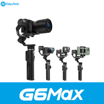 Feiyu G6 Max Gimbal Stabilizer Handheld For  Mirrorless Camera Pocket Camera GoPro Hero/8/7/6/5 stabilisateur Smartphone/G6 PLUS hohem isteady pro 3 splash proof 3 axis handheld gimbal stabilizer for gopro hero 8 7 6 dji osmo rx0 action camera pro 2 upgrade