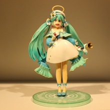 Anime Hatsune Miku New Winter Coat Ver PVC Action Figure Collectible Model doll toy 22cm anime hatsune miku v4x vocal project diva pvc action figure juguetes collectible model doll kids toys 20cm