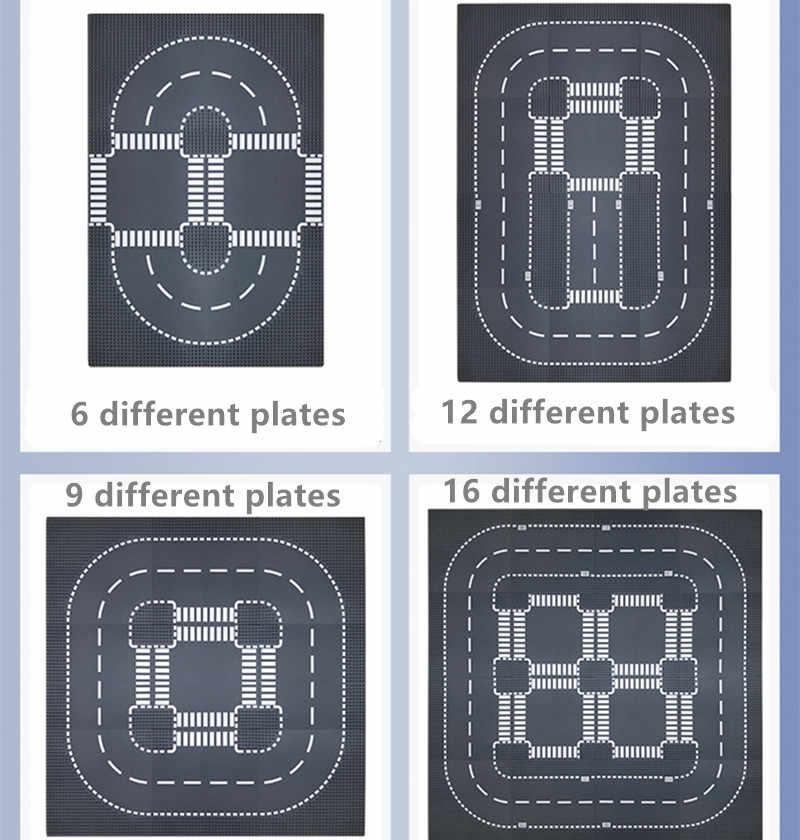 32x32 Dots Fiume Piastra di Base Base di Isolati della Città di Strada Piatti Classici Compatibili Giocattoli FAI DA TE Mini Mattoni da Costruzione di Base de placas per I Bambini