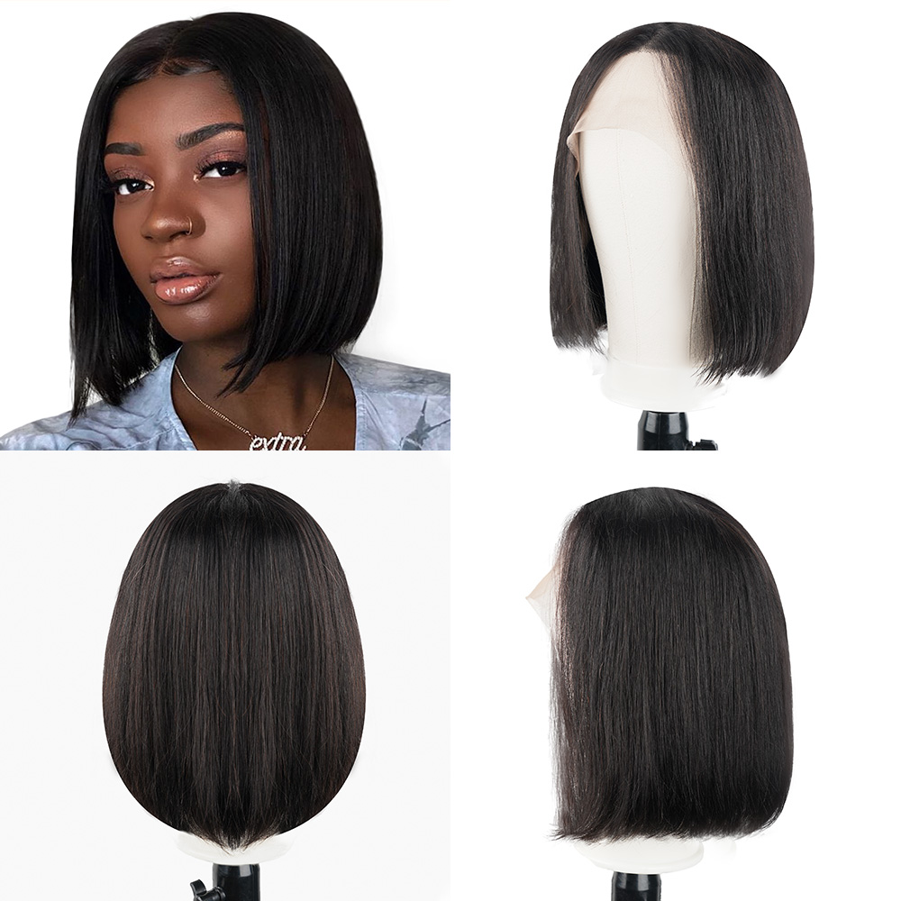 Brazilian Wig 13x6 Straight Short Bob Lace Front Wigs 150% Density Lace Front Human Hair Wigs Pre-plucked With Baby Hair
