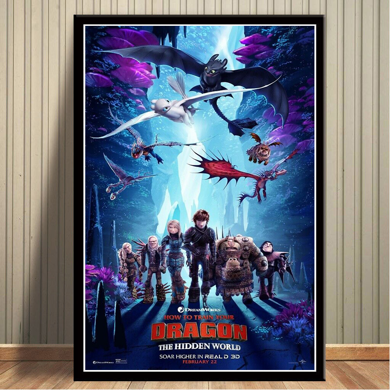 Home Decor Canvas Wall Art Printed Picture How To Train Your Dragon 3 The Hidden World Movie Painting Nordic Poster Living Room Aliexpress