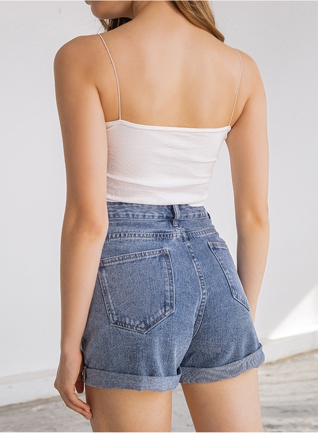 Plus Size Denim shorts in 3 variants