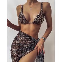 2020 Sexy trzyczęściowy zestaw Bikini wzór w cętki strój kąpielowy kobiety Push Up stroje kąpielowe kobiet brazylijskie kostiumy kąpielowe Summer Beach Wear tanie tanio perlike CN (pochodzenie) Leopard Osób w wieku 18-35 lat Niski stan Bikini set Drut bezpłatne WOMEN Pasuje prawda na wymiar weź swój normalny rozmiar