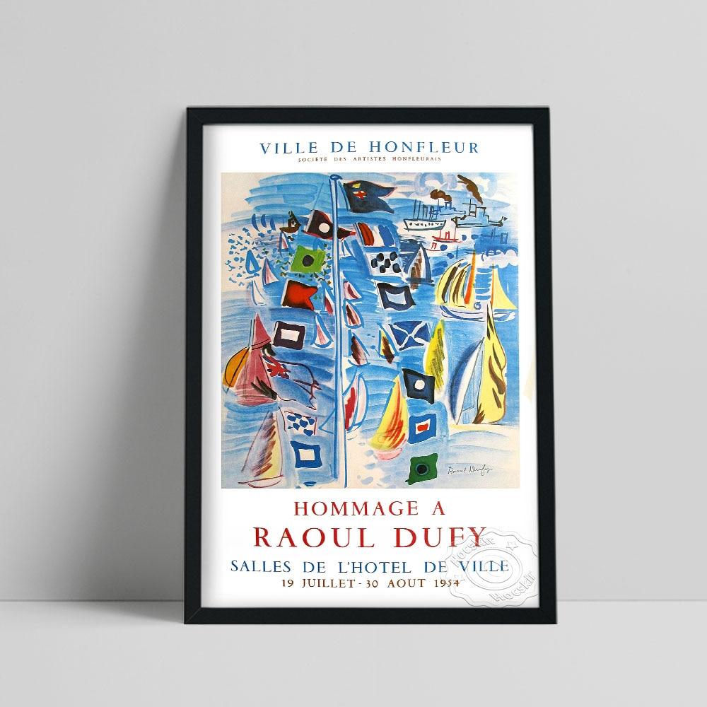 Hommage A Raoul Dufy Salles De Hotel De Ville French Exhibition Poster, Dufy Ville De Honfleur Prints, Impressionist Wall Art