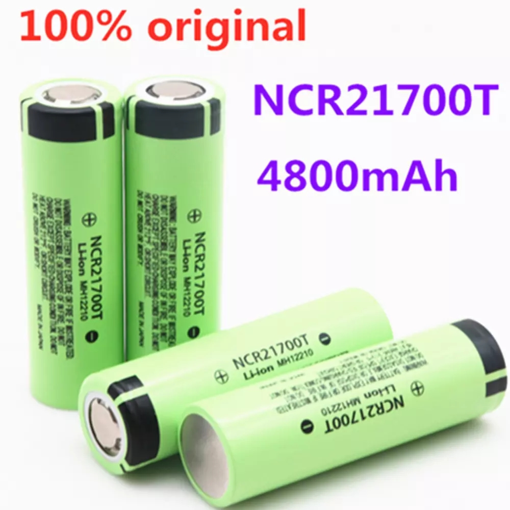 Перезаряжаемая литиевая батарея Ncr21700t, 21700 мАч, 4800 в, 40 А, высокая разрядка, высокая Потребляемая литий ионная батарея, 3,7|Перезаряжаемые батареи| | АлиЭкспресс