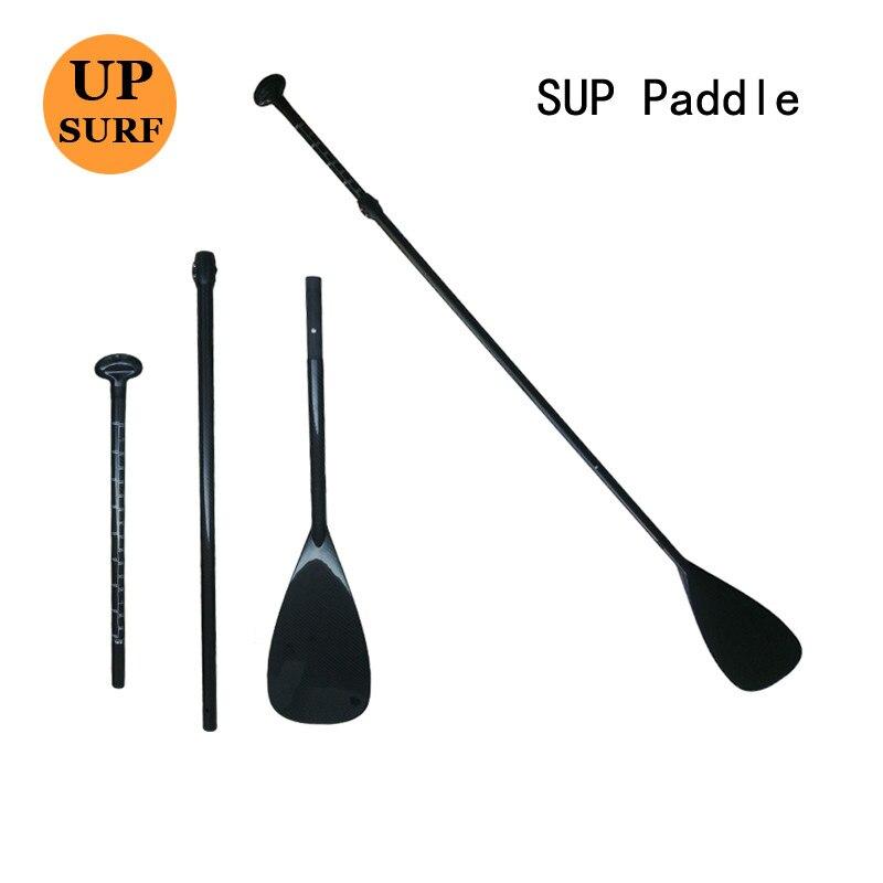 Livraison gratuite 100% Fibre de carbone SUP Surf Paddle carbone Stand Up planche de Surf Paddle