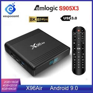 Image 1 - Android 9.0 TV BOX X96 Air Amlogic S905X3 4GB 64GB 4GB32GB WIFI 4K 8K 24fps X96Air 2GB 16GB Android TV Box