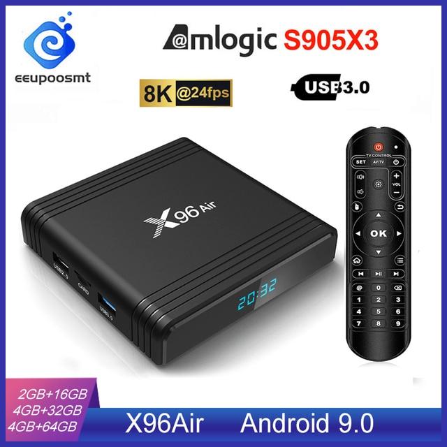 Android 9.0 TV BOX X96 Air Amlogic S905X3 4GB 64GB 4GB32GB WIFI 4K 8K 24fps X96Air 2GB 16GB Android TV Box