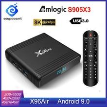 Android 9.0 TV BOX X96 Aria Amlogic S905X3 4GB 64GB 4GB32GB Wifi 4K 8K 24fps X96Air 2GB 16GB Set Top Box Android TV Box