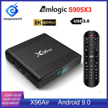 Android 9.0 TV Box X96 Không Amlogic S905X3 4GB 64GB 4GB32GB Wifi 4K 8K 24fps X96Air GB RAM 16GB Set Top Box Android TV Box