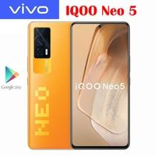 Resmi yeni orijinal VIVO IQOO NEO 5 cep telefonu Snapdragon 870 6.62 inç 120Hz AMOLED 48MP kameralar NFC 4400Mah 66W süper şarj