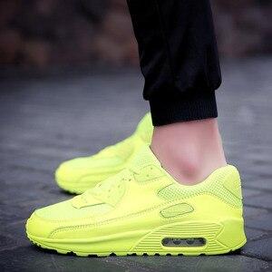 Image 5 - Hundunsnake צהוב סניקרס זכר אוויר כרית גברים ריצת נעלי ספורט נעלי נשים של נעלי ספורט גברים 2018 ריצה Krasovki T205