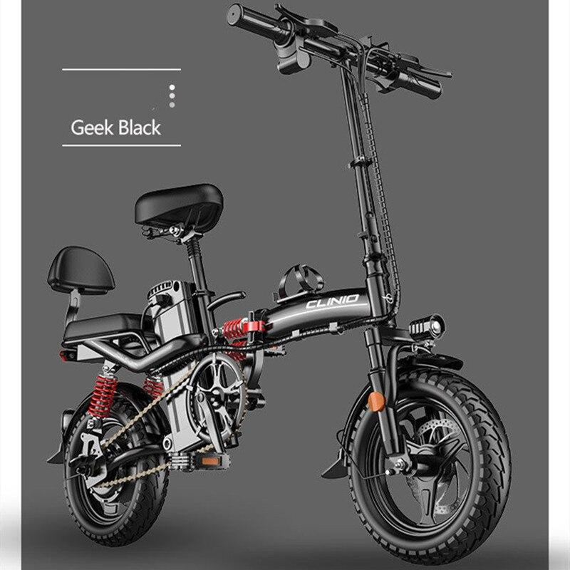 Электрический велосипед, мини-электровелосипед 14 дюймов 48 в 15 Ач 32 Ач, городской электровелосипед 400 Вт, мощный горный велосипед/полнопривод...