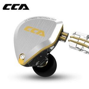 Image 2 - Новинка CCA C12 5BA + 1DD гибридная металлическая гарнитура HIFI бас наушники в ухо монитор шумоподавление наушники сменный кабель V90 ZSX