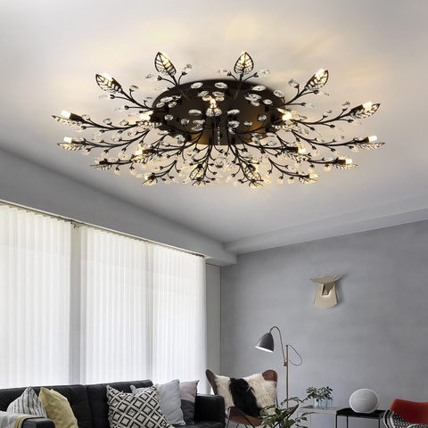 moderno led lustre cristal iluminacao interior