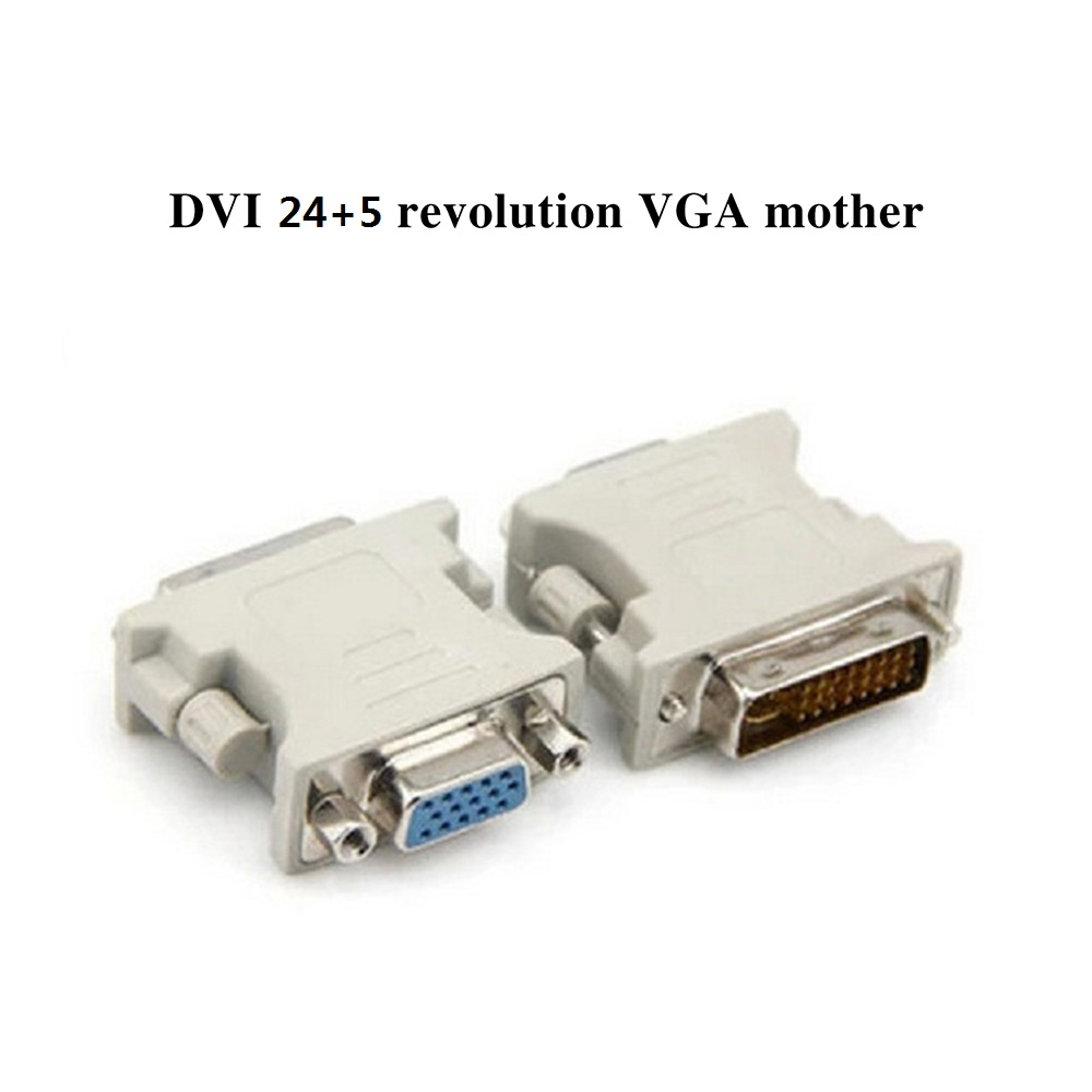 <font><b>DVI</b></font> <font><b>To</b></font> <font><b>VGA</b></font> Adapter Converter Connecter for LaptopDVI-I 24+5 Pin <font><b>DVI</b></font> <font><b>To</b></font> <font><b>VGA</b></font> Male <font><b>To</b></font> Female Video Converter Adapter For PC Laptop image