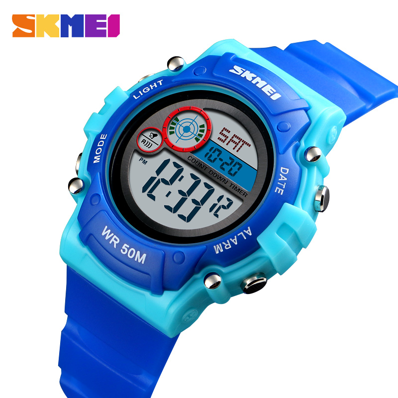 SKMEI Kid Watch Fashion Sport Bracelet For Boy Girl Luxury Count Down Stopwatch Sports Watches Children Wristwatch Alarm Clock